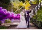 Густой фиолетовый дым для свадеб