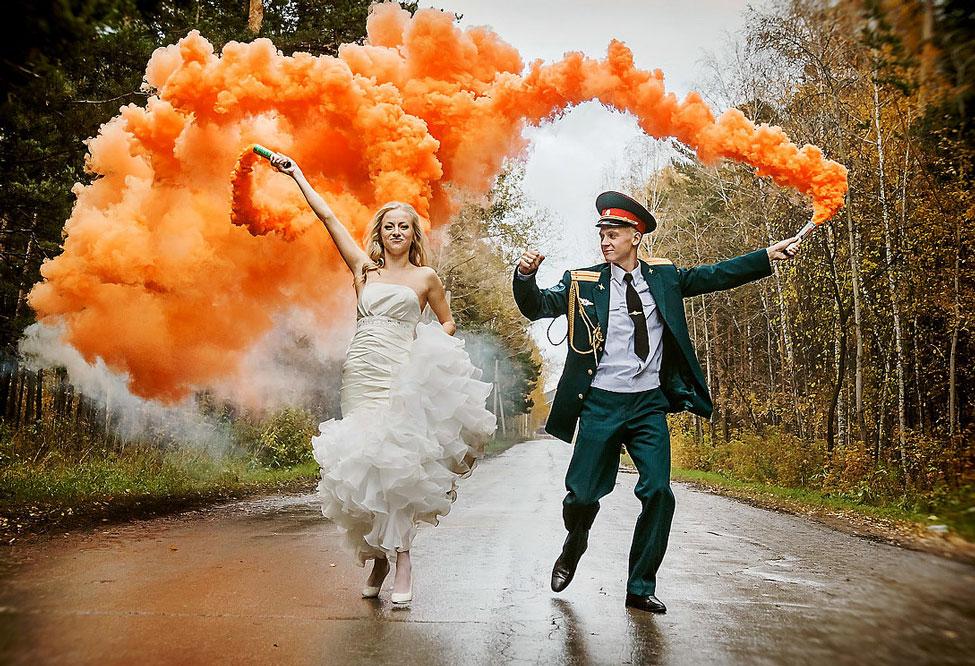 Купить цветной дым на свадьбу