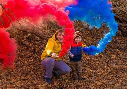 цветной дым безопасен для детей