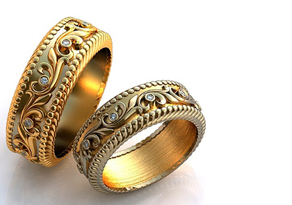 Красивые кольца на свадьбу