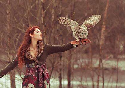 Фотосессия с совой в москве