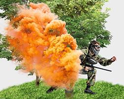 применение цветного дыма в пейнтболе