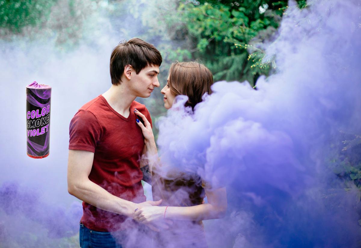 Купить фиолетовый дым для фотосессии color smoke violet