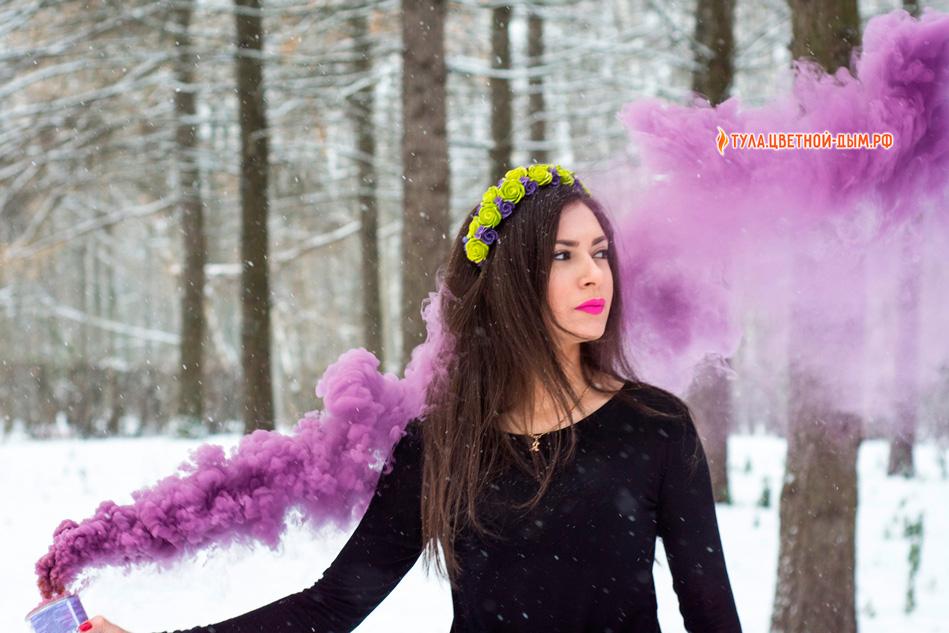 Купить смок бомб фиолетовый дым