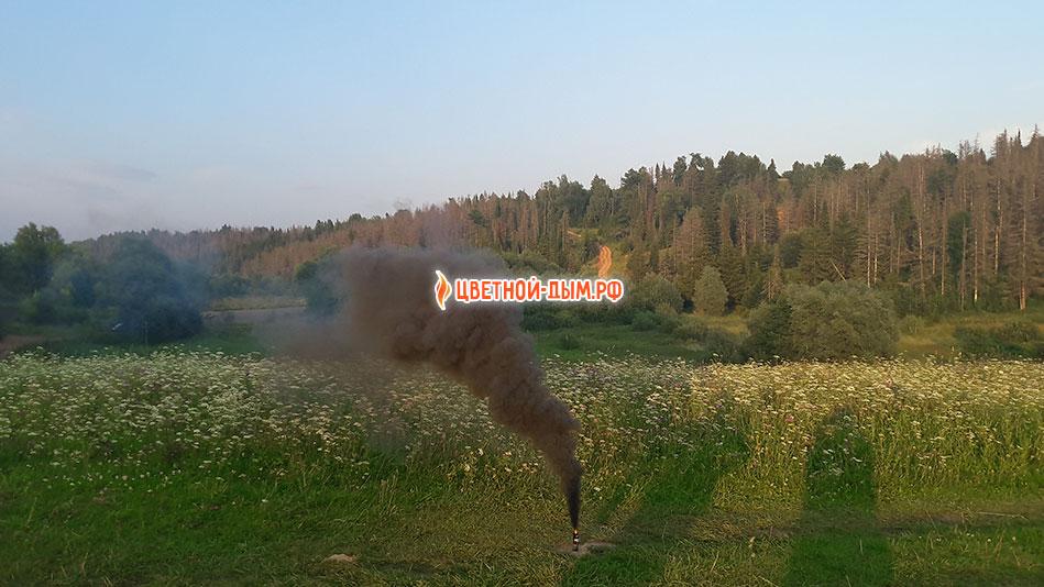 черная шашка дыма russian smoke