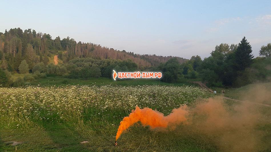 russian smoke orange дымовая шашка для фотосессии