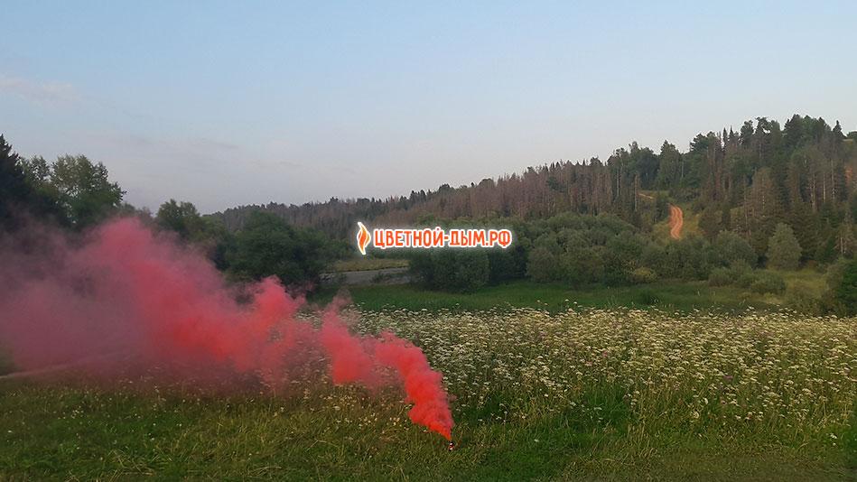 Цветной дым Russian Smoke (красный)