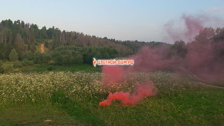 russian smoke цветной дым красный