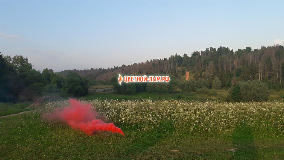 красный дым рашен смоук дымовая шашка