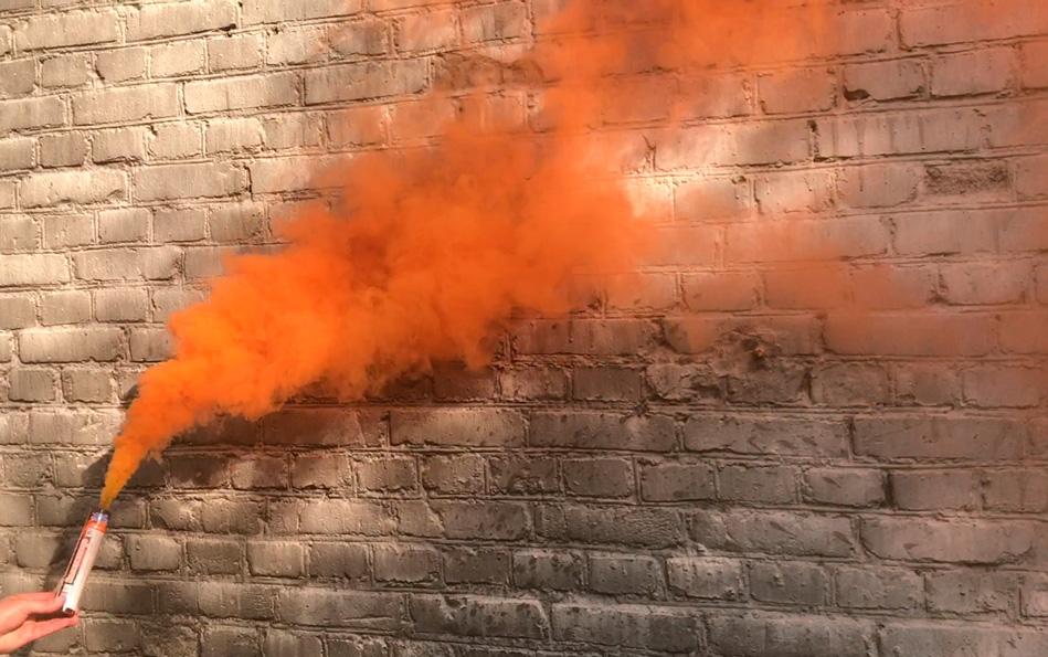 Цветной дым оранжевый 120 секунд Беларусь