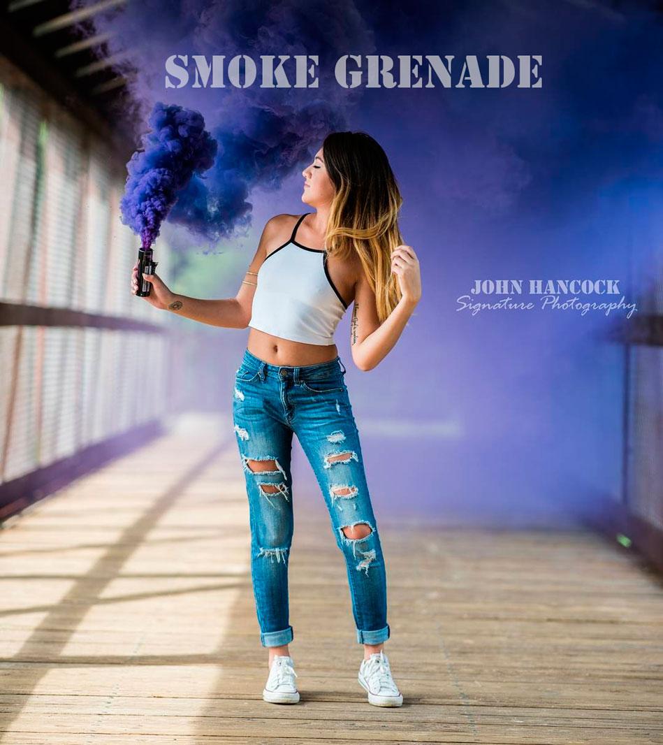 Smoke Grenade wp-40 (фиолетовый) с чекой 90 секунд