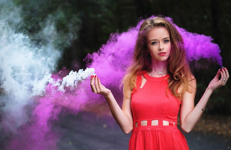 заказать цветные дымовые бомбочки для фотосессии