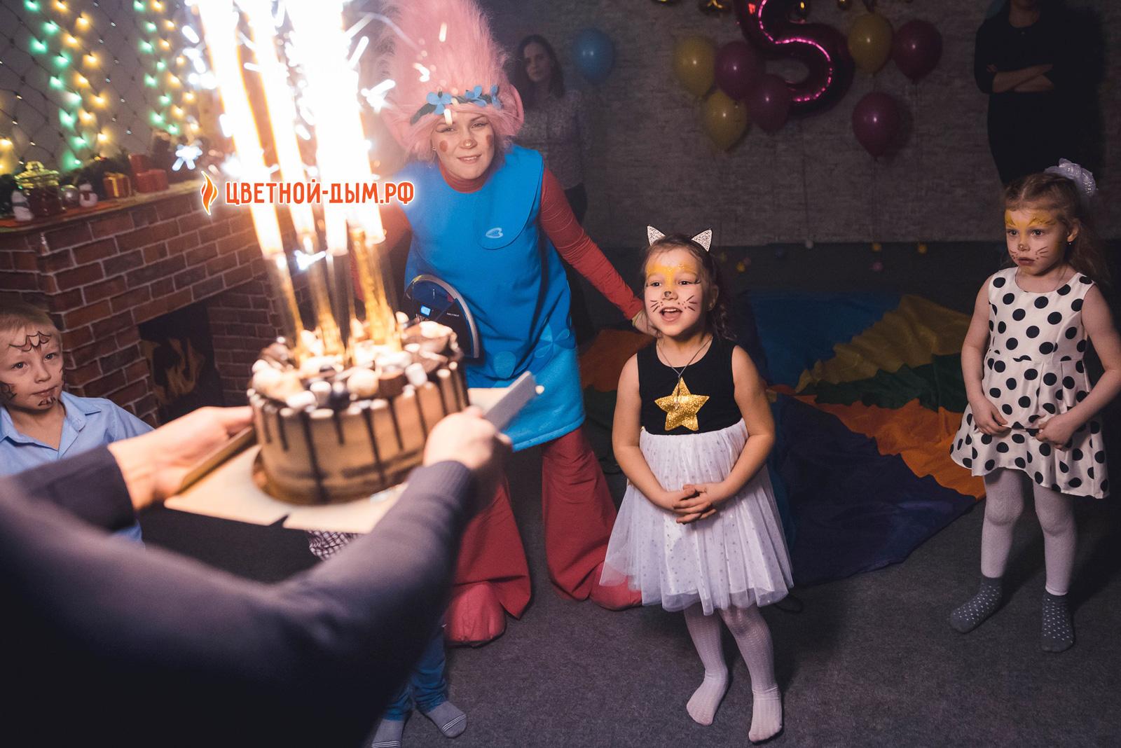 фонтаны в торт на день рождение