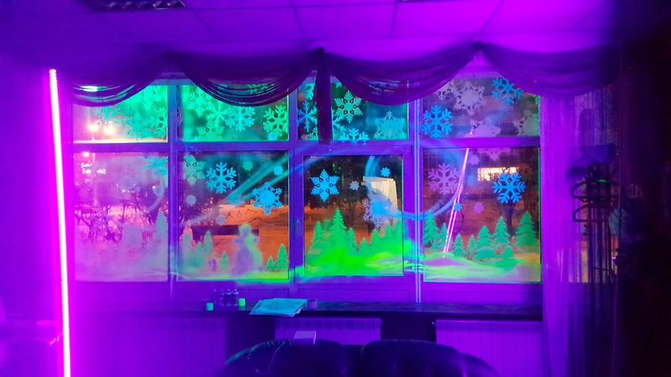 краска для украшения витрин на новый год