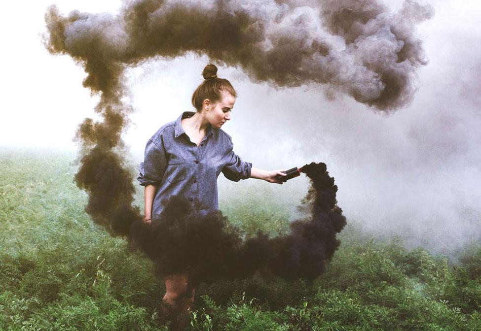 купить черный цветной дым для фотосессии