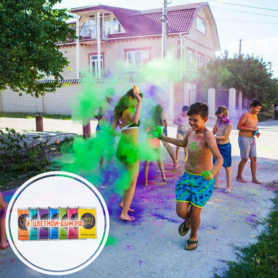 Детский праздник с Красками Холи