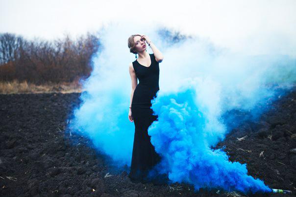 Идеи фото с дымом