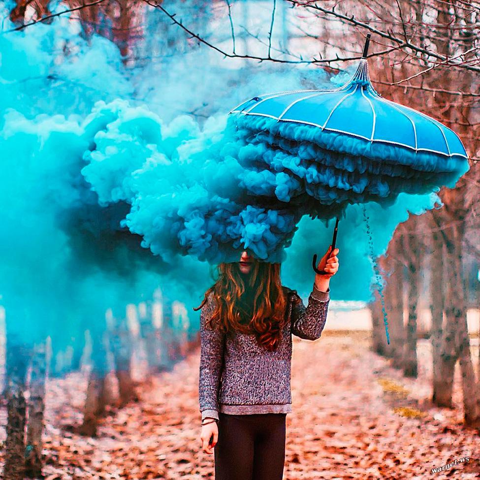 идеи фото с цветным дымом