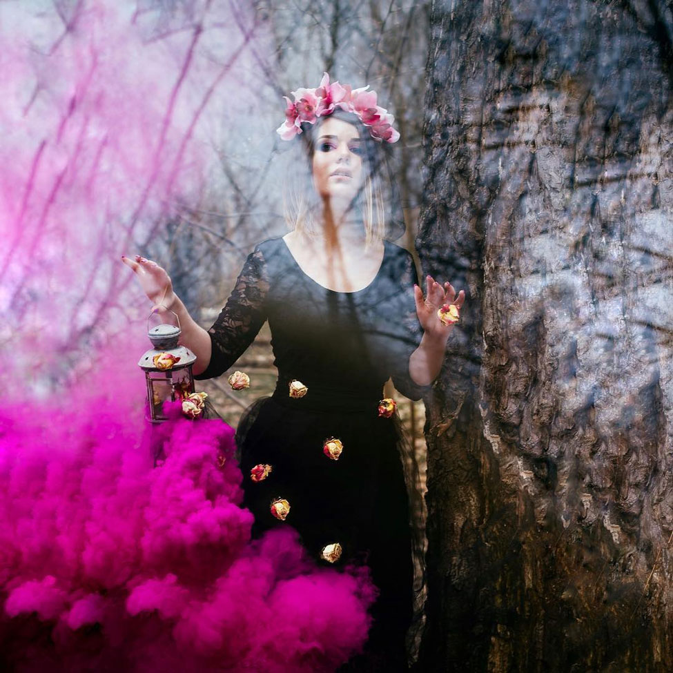 Как сделать удачную фотосессию с цветным дымом видео