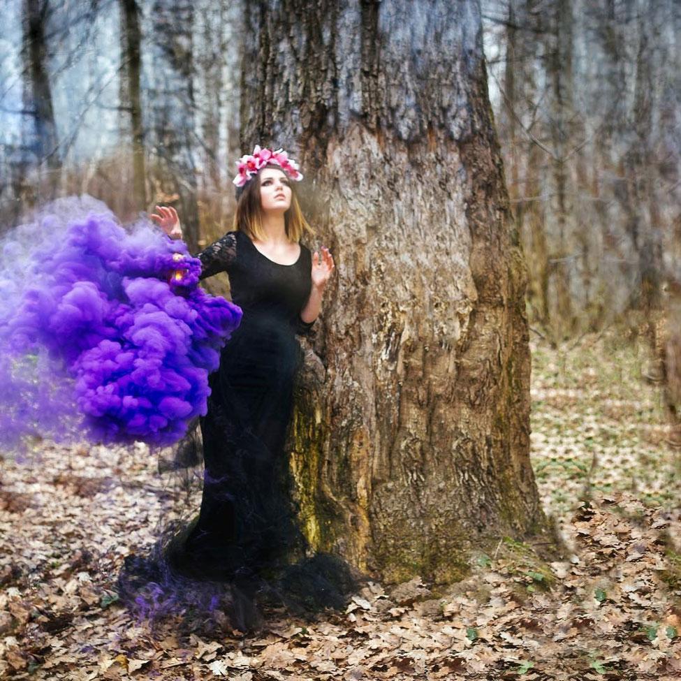 Как сделать удачную фотосессию с цветным дымом ответы на вопросы