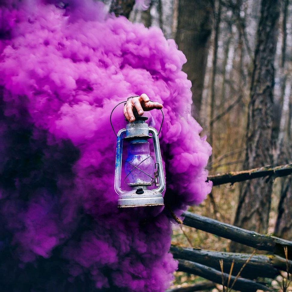 Лиза Маркова Elis Loy фиолетовый дым из керосиновой лампы